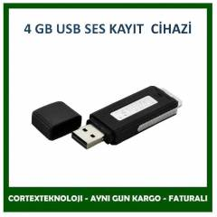 4GB USB Flash Disk Ses Kay�t Cihaz� USB SES KAYI