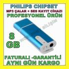 SES KAYIT C�HAZI 8 GB USB BELLEK MP3 �ALAR