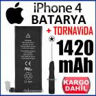iPHONE 4 BATARYA P�L 1420 mAh +TORNAV�DA *FIRSAT