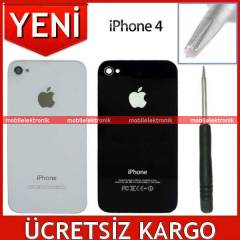 APPLE iPHONE 4 Arka Pil Kapa��+Vida+Tornavida S�