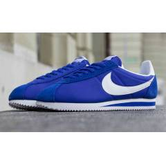 NIKE CLASSIC CORTEZ NYLON blue-wht MENS SHOES