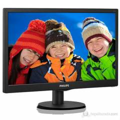 "PHILIPS 19,5"" 203V5LSB26-62 5Ms Led Monit�r"