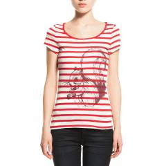 Z4162 DEWBERRY BAYAN T-SHIRT-KIRMIZI