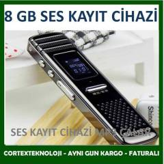 Mini Dijital Ses Kaydedici MP3 �alar  8 GB S�PER