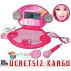 Barbie Cd Ve Mikrofonlu E�itici Oyuncak Laptop
