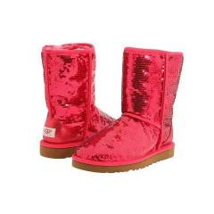 UGG Bot - Classic Short Sparkles Ruby Red