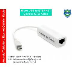 Micro USB to Ethernet Polypad Tablet OTG Kablo