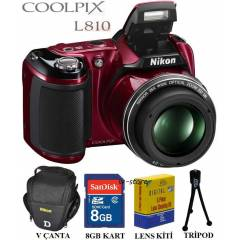Nikon L810 16MP HD 3D Foto�raf Makinesi