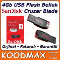 4 GB USB FLASH BELLEK SANDISK CRUZER BLADE