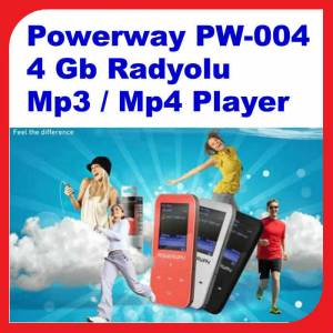 Powerway PW-004 4 Gb Radyolu Mp3 / Mp4 Player