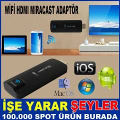 ANDRO�D �OS PC ���N W�F� HDMI MIRACAST ADAPT�R