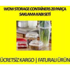 Wow Storage Containers 20 Par�a Saklama Kab� Set