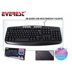 Everest KB-818M USB Multimedia F Klavye