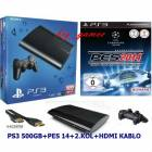 Sony PS3 500 GB ULTRASLIM+ PES 2014 +2.KOL+hdm�