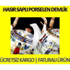 Has�r Sapl� Porselen Demlik
