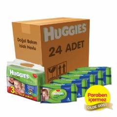 Huggies Islak Havlu (Do�al Bak�m) 24'l� Koli