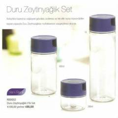 TUPPERWARE DURU SET-3'L�-YEN� MAV� KAPAK