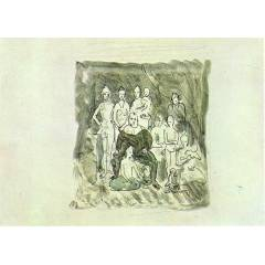 50x70cm KANVAS TABLO PABLO PICASSO  FAMILY OF AC