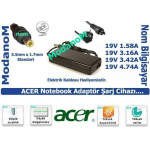 ACER ASP�RE HP-OK065B13 19V 3.42A LAPTOP SARJI