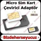 iPhone iPad Sim Kart Adapt�r Micro Sim Adapt�r