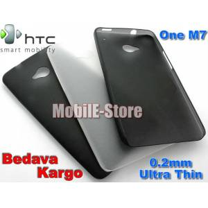 HTC One M7 Ultra �nce 0.2mm K�l�f+3xFilm