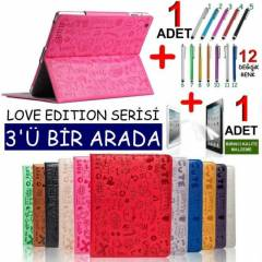 New iPad 4 Retina KILIF STAND KILIF Love Edition