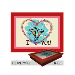 Funny Design Tepsili Diz Minderi - I LOVE YOU