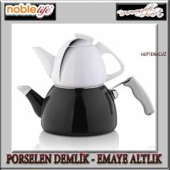 NOBLE L�FE PORSELEN - EMAYE �AYDANLIK SET BLACK