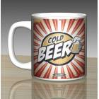 iF Clock Beer Tasar�m Seramik Kupa Mug