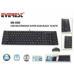 Everest KB-690 Usb Mult�medya Super Slim Black