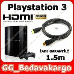 Sony PS3 Playstation 3 HDMI Kablo 1.5m Alt�n