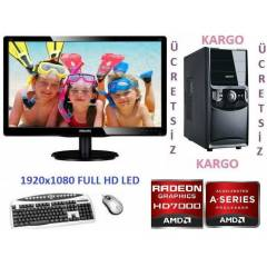 AMD 4 �EKiRDEK+22 LED+320 GB +16 GB RAM+HAZIR PC