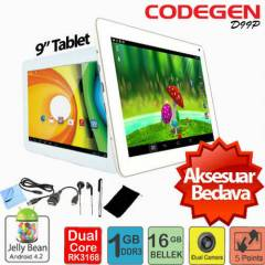 "Codegen 2�ekirdek 9"" �iftKamera 16GB Tablet Pc"