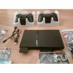 SONY PLAY STATION 2 SL�M S�YAH 28 oyun ve K kol