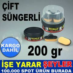 1.KAL�TE  WORLD ��FT S�NGERL� AYAKKABI BOYASI KD
