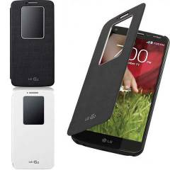Lg G2 K�l�f Flip Cover Quick Window Aktif ORJ