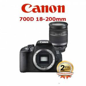 Canon EOS 700D 18-200mm  Rebel T5i �OK F�YAT