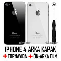iPhone 4 Arka Kapak +2 Film +Tornavida