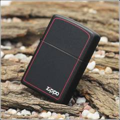Z�PPO BLACK MATTE RED BORDER / 218ZB