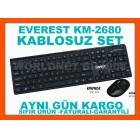 EVEREST KB-2680 KABLOSUZ KLAVYE MOUSE SET