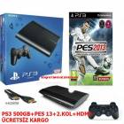 PLAYSTAT�ON3 - PS3 500 GB+PES 2013+2.KOL+HDMI