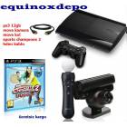 PS3 12 GB + MOVE SET + SPORTS CHAMPIONS 2 sony
