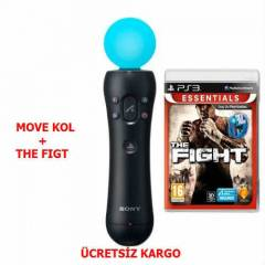 SONY PS3 MOVE KOLU + THE FIGHT OYUNU.ORJ.
