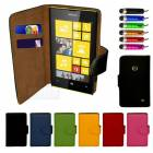 Nokia Lumia 520 KILIF C�zdan Film Kalem Full SET