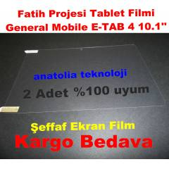 General Mobile E Tab 4 Ekran Koruma Film Jelatin