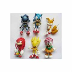 sonic fig�rleri 6 par�a set oyuncak