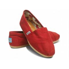Toms Ayakkab� Red Canvas Women's Classic