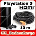 10m Hdmi Kablo v1.4 3D Sony PS3 Playstation 3