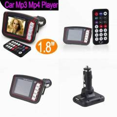 "FM Transmitter 1.8"" LCD MP3, MP4 player USB,SD"