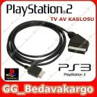 Playstation 2 3 RGB SCART TV KABLOSU